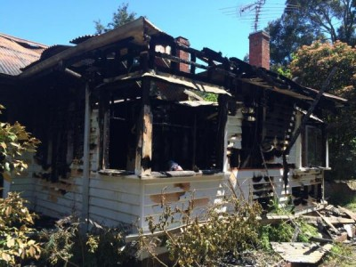 The fire destroyed the Ryan Road home.
