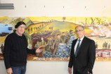 Artist Calvin Bell and Holt MP Anthony Byrne are calling on members of the local community to attend this weekend's Holt Anzac Centenary Fine Art Exhibition.