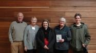 Councillor George Blenkhorn, U3A Cardinia president Janet Hodge, mayor Jodie Owens,  Sue Blenkhorn and grandson Flynn Parker.