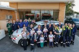 Paramedics out the front of their soon-to-be remodelled ambulance headquarters. 158041 Picture: GARY SISSONS